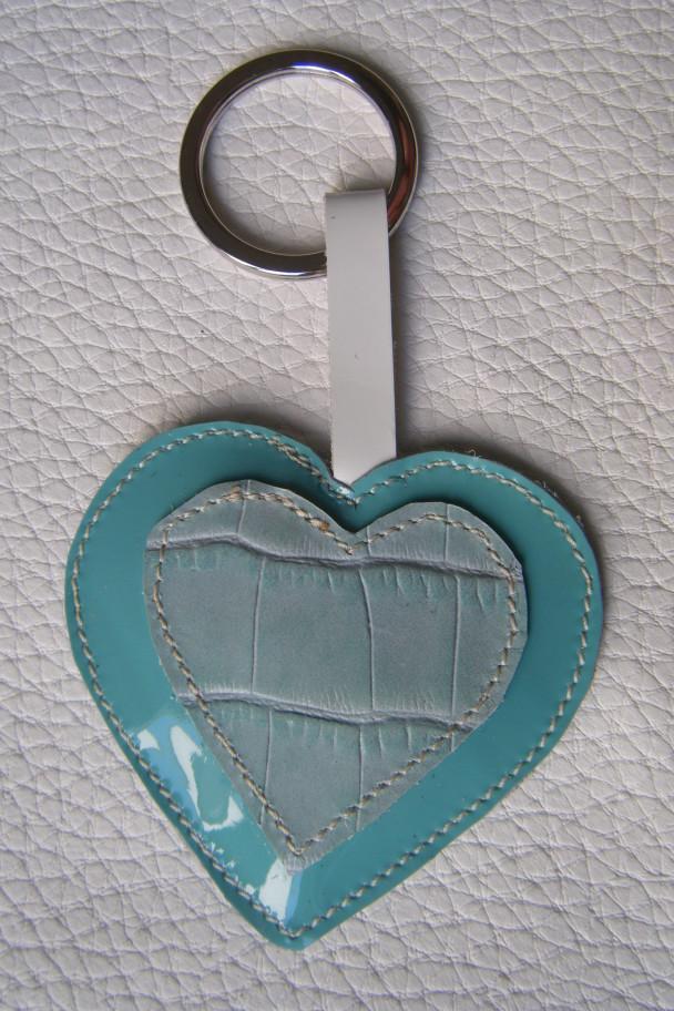 portachiavi cuore azzurro