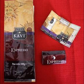 portachiavi chiuso realizzato con la carta del caffè KAVE