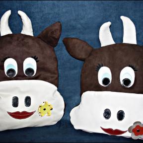 Cuscini mucca