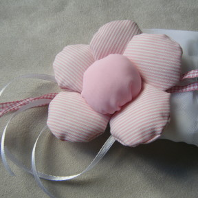 sacchetto confetti con fiore rosa