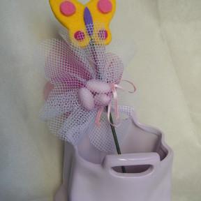 sacchetto confetti farfalla con stelo
