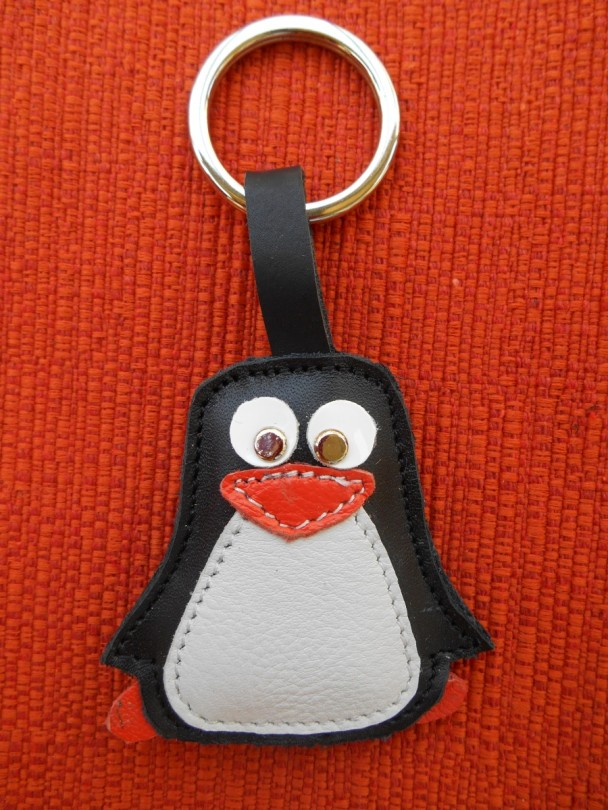 portachiavi pinguino