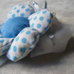 sacchetto confetti fiore azzurro