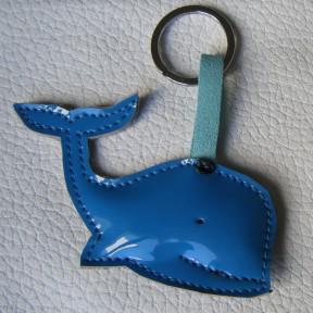 portachiavi balena azzurro lucido