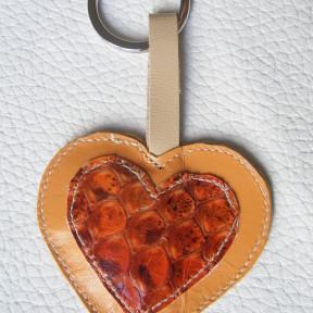 portachiavi cuore giallo-arancio
