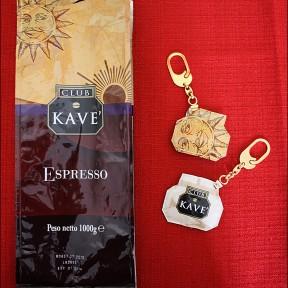 portachiavi semplice realizzato con la carta del caffè KAVE