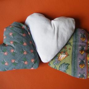 sacchetti lavanda cuore fantasia verde