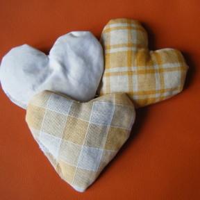 sacchetti lavanda cuore fantasia giallo