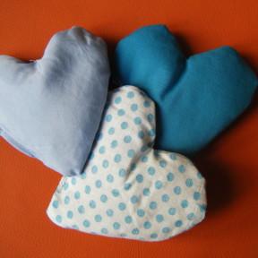 sacchetti lavanda cuore fantasia azzurro