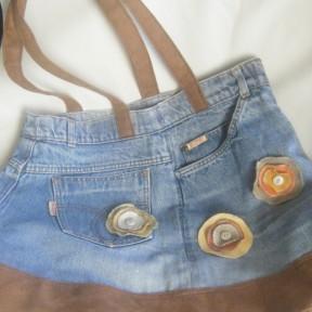 borsa jeans e stoffa