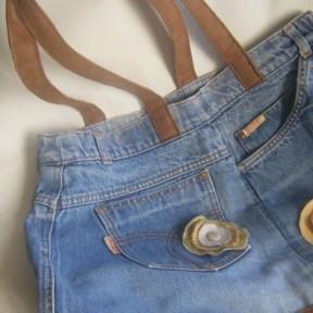 borsa jeans e stoffa_particolare