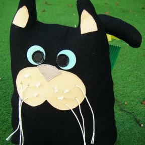 gatto fermaporta nero