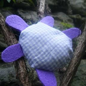 tartaruga in stoffa per bomboniere