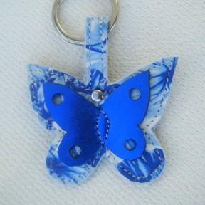 portachiavi farfalla fantasia blu