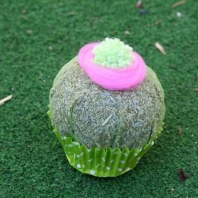 cupcake lavanda con pon pon