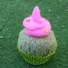 cupcake lavanda con ricciolo