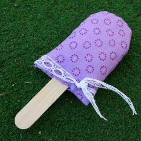 ghiacciolo di lavanda viola