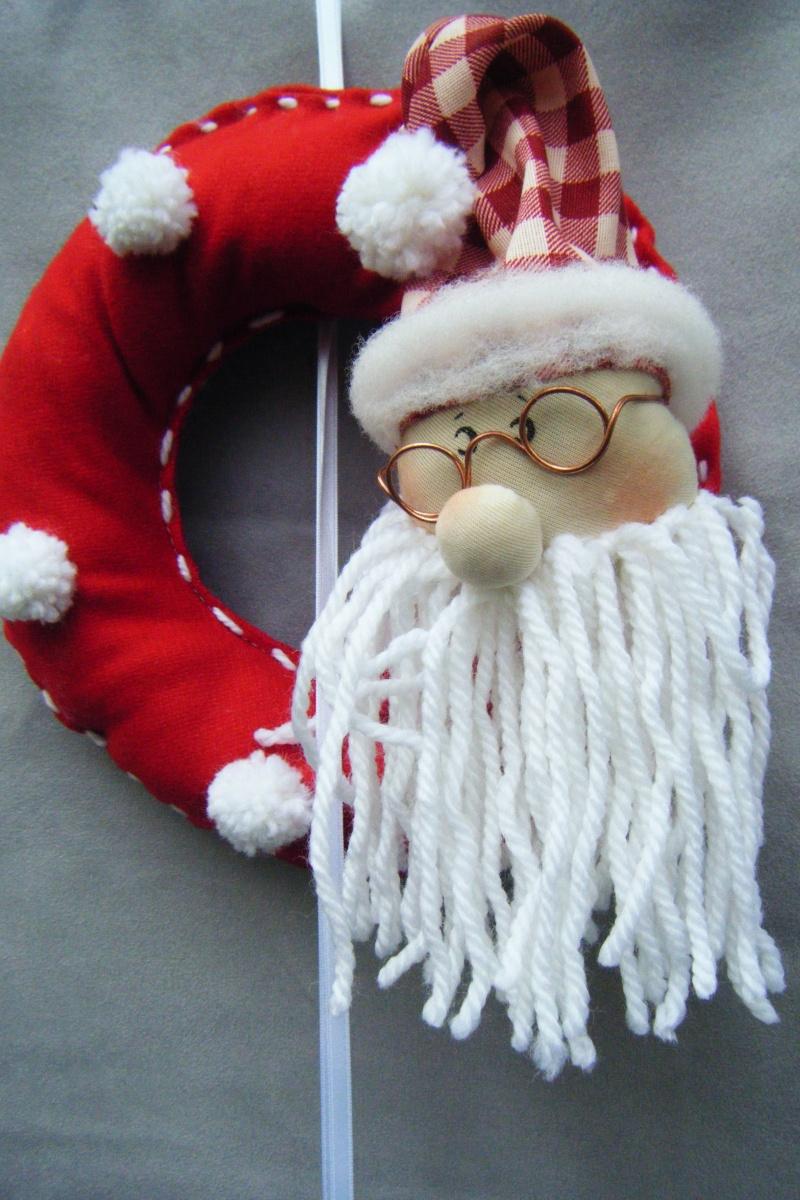 ghirlanda Babbo Natale pom pon
