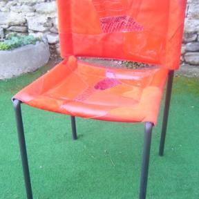 sedia design rossa