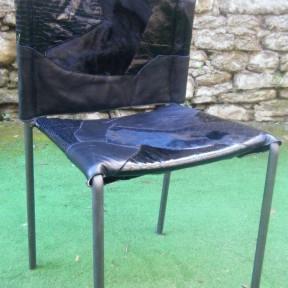 sedia design nera