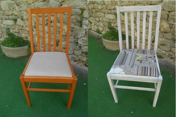 restyling sedia in legno