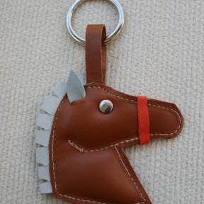 portachiavi cavallo marrone