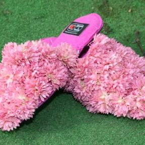 coccole con fiori in stoffa