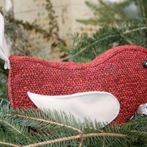 fermaporta uccellino rosso