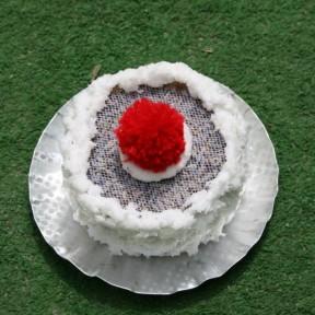 tortino di lavanda con pon pon